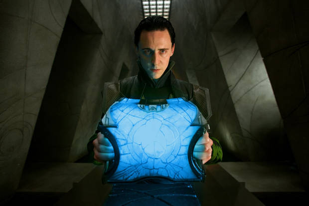 "Tom Hiddleston as Loki in ""Thor."""