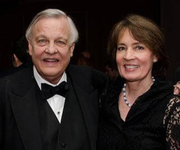 William Conger with Oklahoma City University School of Law Dean Valerie Couch at the Oklahoma City University School of Law Awards Gala on Nov. 3, 2012. PHOTO PROVIDED <strong></strong>