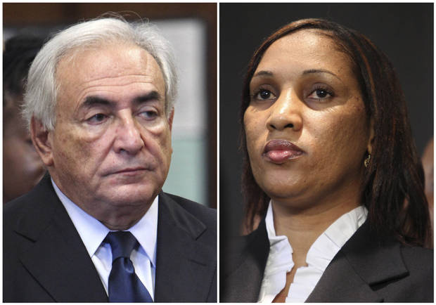 FILE - This combo made from file photos shows former International Monetary Fund leader Dominique Strauss-Kahn on June 6, 2011, left, and Nafissatou Diallo on July 28, 2011, in New York. Diallo�s sexual assault lawsuit against the former IMF leader could wrap up as soon as Monday, Dec. 10, 2012, in a quiet deal. A person familiar with the case tells The Associated Press the court date concerns a possible settlement. (AP File Photos)