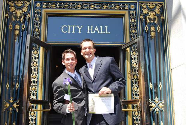 Tyler Barrick and Spencer Jones were married in California, but had their marriage invalidated by the passage of California's Proposition 8 in 2008. Photo provided.