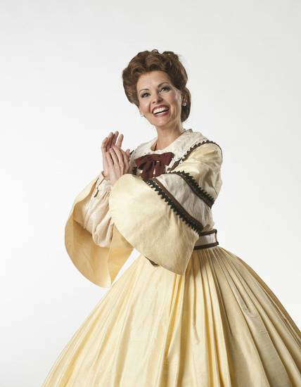 "Heather Geery as Anna Leonowens in ""The King and I."" Photo by Keith Rinearson <strong>Photo by Keith Rinearson</strong>"