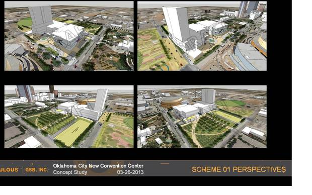 Scheme 1. Proposal for new Oklahoma City Convention Center provided by GSB, Inc.