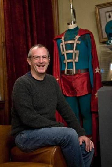 DAVE  GIBBONS  the co-creator of the graphic novel Watchmen which is now an action adventure film from Warner Bros. Pictures, Paramount Pictures and Legendary Pictures and is distributed by Warner Bros. Pictures