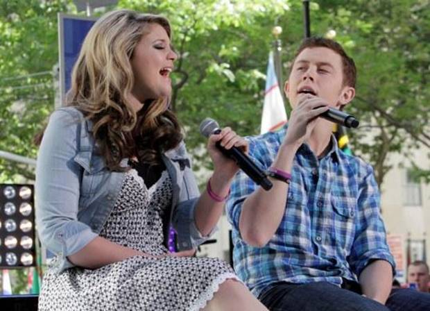 "winner  runner-up of the latest ""American Idol"" competition, appear on the NBC ""Today"" television program in New York Thursday, June 2, 2011. (AP Photo/Richard Drew)"