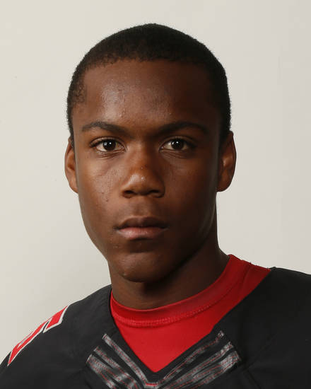 Jhames West, Westmoore football player, poses for a mug shot during The Oklahoman's Fall High School Sports Photo Day in Oklahoma City, Wednesday, Aug. 15, 2012. Photo by Nate Billings, The Oklahoman