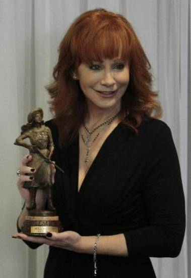klahoma country music/acting superstar Reba McEntire talks at a press conference after she was honored as The Annie Oakley Society Award winner on Thursday, June 7, 2012, in Oklahoma City, Okla. Photo by Steve Sisney, The Oklahoman