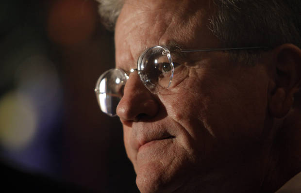 U.S. Senator Tom Coburn talks to the media at the republican Watch Party at the Marriott on Tuesday, Nov. 2, 2010, in Oklahoma City, Okla.   Photo by Chris Landsberger, The Oklahoman