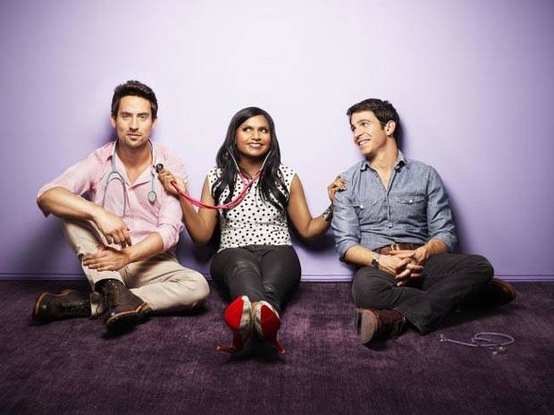 "From left, Ed Weeks, Mindy Kaling and Chris Messina of ""The Mindy Project"" - Fox Photo"