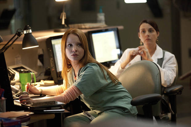 "Lauren Ambrose stars in ""Coma"" - A&E Photo"