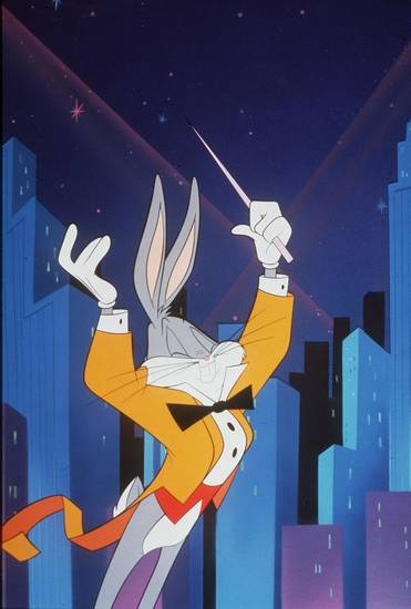 Bugs Bunny on Broadway. Transparency scan for Rick Rogers in Features. (RK)