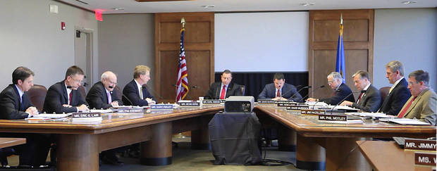 Oklahoma Turnpike Authority meeting, Friday. Photo By David McDaniel, The Oklahoman