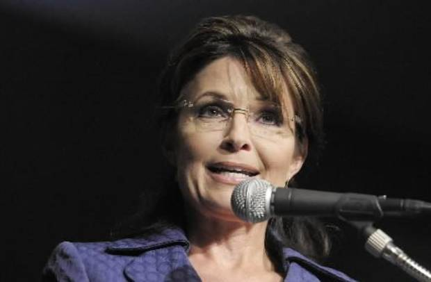 Former Alaska Governor Sarah  Palin speaks at the Oklahoma Council of Public Affair�s annual Liberty Gala at the Convention Center in  Tulsa. AP Photo/Brandi Simons