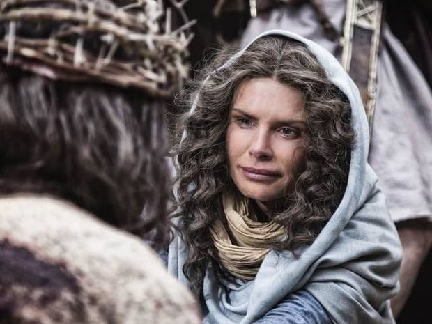 "Actress Roma Downey portrays Mary, mother of Jesus, in a scene from ""The Bible,"" a 10-part cable television series premiering Sunday on the History Channel. Photo provided <strong></strong>"