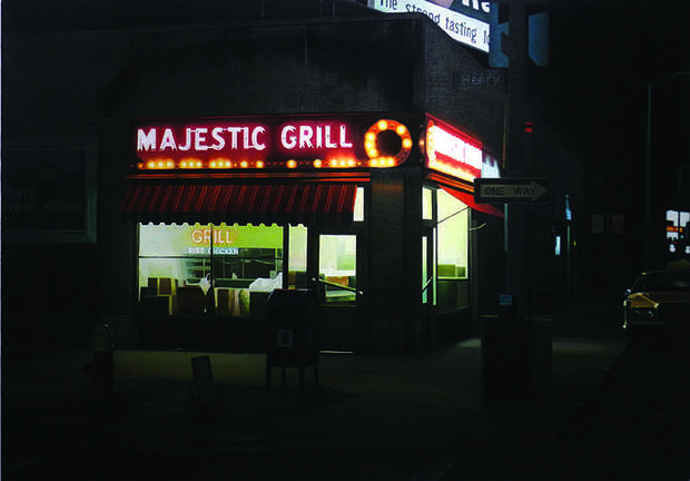 """Majestic Grill #2,"" 1980, Robert Gniewek. Private Collection, Louis K. Meisel Gallery, New York. Courtesy International Arts"