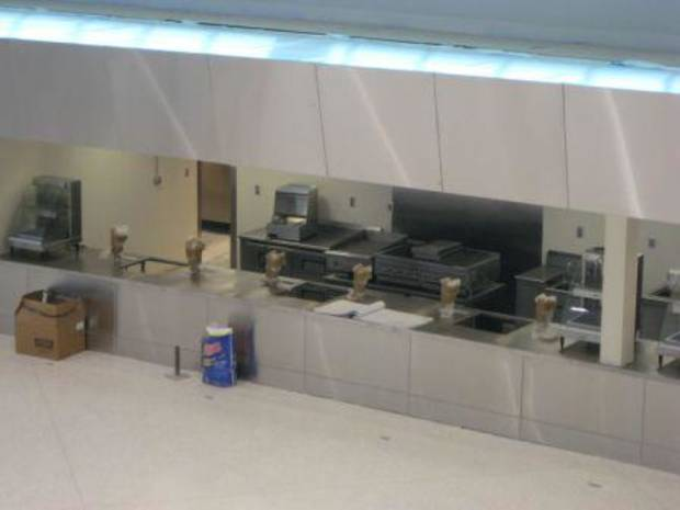 Picture of lobby concession stands at Tulsa's BOK Center