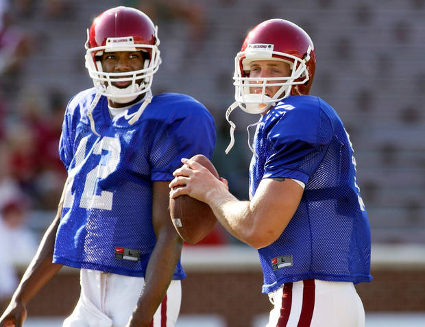 Many OU fans insist, had the coaches played Paul Thompson, left, instead of Jason White in the 2004 Sugar Bowl, the Sooners could have won the national championship.  Photo by by Steve Gooch, The Oklahoman Archives