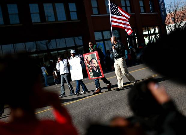 during the Martin Luther King Jr. Day Parade in Oklahoma City on Monday, Jan. 17, 2011. Photo by John Clanton, The Oklahoman