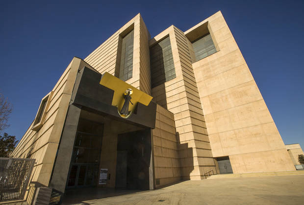 The entrance to the Cathedral of Our Lady of the Angels, headquarters for Roman Catholic Archdiocese of Los Angeles, is photographed Monday, Jan. 21, 2013, in Los Angeles. Retired Cardinal Roger Mahony and other top Roman Catholic Archdiocese of Los Angeles officials maneuvered behind the scenes to shield molester priests, provide damage control for the church and keep parishioners in the dark, according to church personnel files. (AP Photo/Damian Dovarganes)