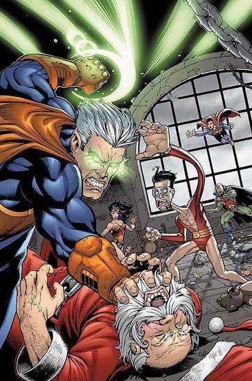 COMIC BOOK, COMICS: Santa Claus, along with the Justice League, faces off against the evil Neron in &quot;JLA&quot; No. 60.