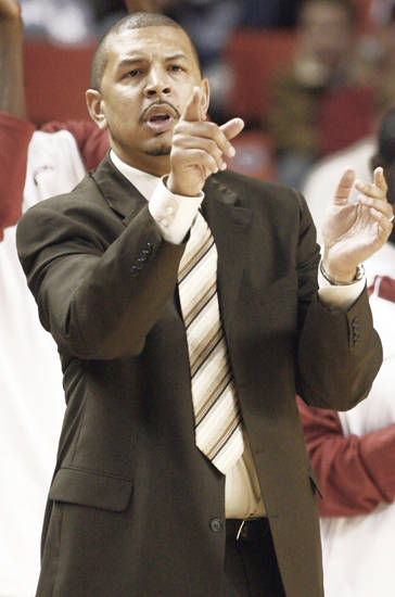 Jeff Capel's in his third season at Oklahoma, and has the Sooners 23-1 and No. 2 in the country.  PHOTO BY CHRIS LANDSBERGER, THE OKLAHOMAN