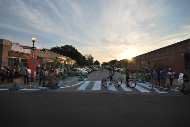 The �Better Block OKC� transformation of NW 7 on Friday night. PHOTO PROVIDED     ORG XMIT: 1205212232362992