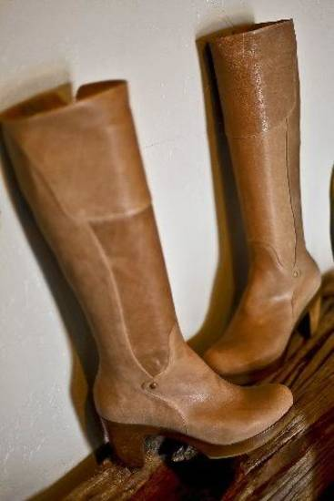 Coclico boots with wooden platform heel from Heirloom Shoe.