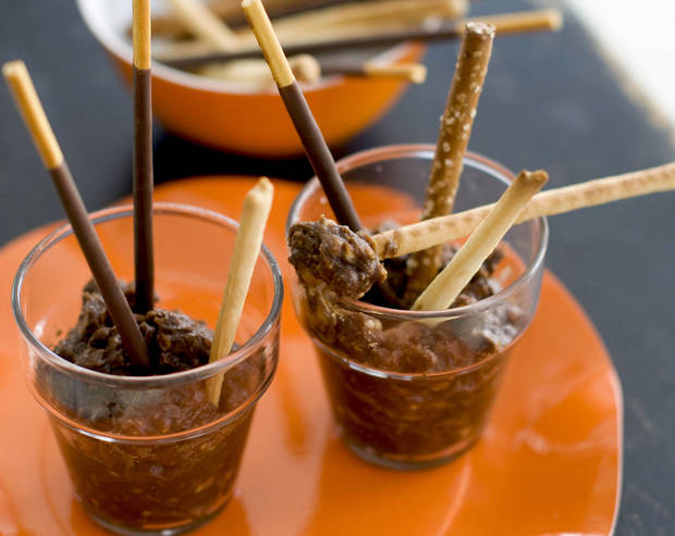 This Halloween party dish is called Pots of Mud. <strong>Matthew Mead - AP</strong>