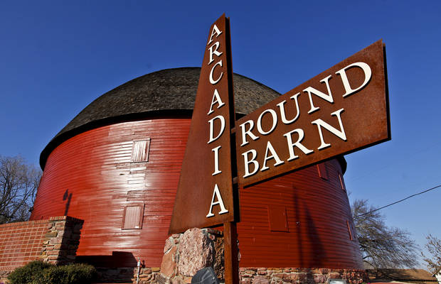 The Round Barn on Thursday, Feb. 16, 2012, in Arcadia, Okla..The Round Barn will celebrate it 20th anniversary of its renovation completion in April 2012.  Photo by Chris Landsberger, The Oklahoman