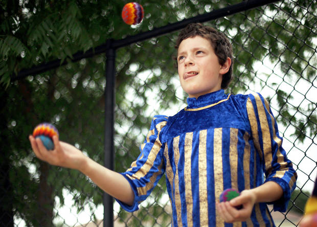 Ryan Garcia juggles at the medieval fair.