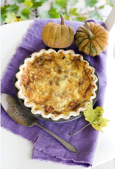 A roasted vegetable quiche is shown in Concord, N.H. AP PHOTO <strong>Matthew Mead - AP</strong>