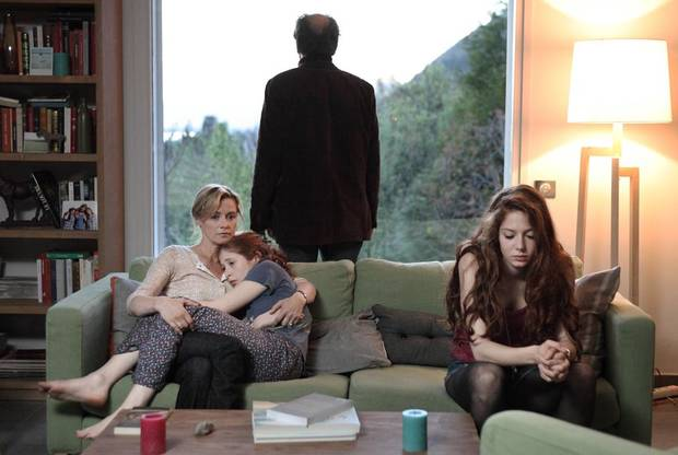 "From left, Anne Consigny, Yara Pilartz, Frédéric Pierrot, and Jenna Thiam are shown in a scene from ""The Returned."" - Photo Credit: Jean Claude Lother"