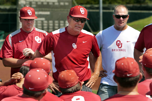Former OU baseball coach Sunny Golloway said he doesn't hold any grudges over the negative things some former players have said about him. PHOTO BY STEVE SISNEY, THE OKLAHOMAN