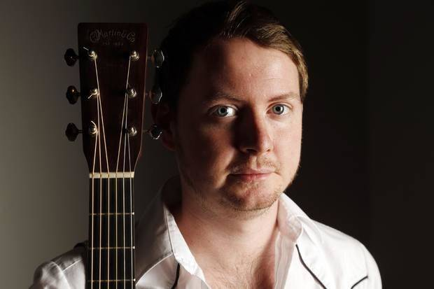 Oklahoma singer-songwriter John Fullbright poses for a photograph inside The Oklahoman studios. Photo by Nate Billings, The Oklahoman