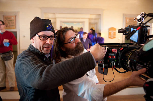 "(L-r) Director TODD GRAFF and director of photography DAVID BOYD on set during the filming of Alcon Entertainment's ""JOYFUL NOISE,"" a Warner Bros. Pictures release."