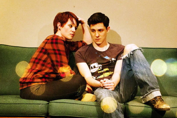 DANNY THESE DAYS, a world premier musical, opens Friday, June 8th, 2012. In this picture, Abby Tresner and Kaleb Bruza.