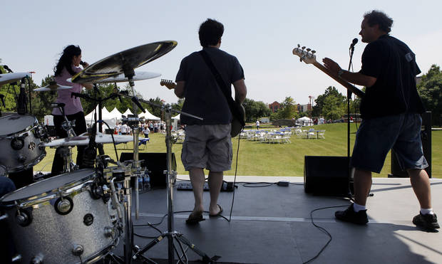 Jumpshots provides live music at the Made in Oklahoma Festival held inside and on the grounds of the Reed Conference Center at the Sheraton Midwest City Hotel Saturday afternoon, May, 19, 2012. Photo by Jim Beckel, The Oklahoman