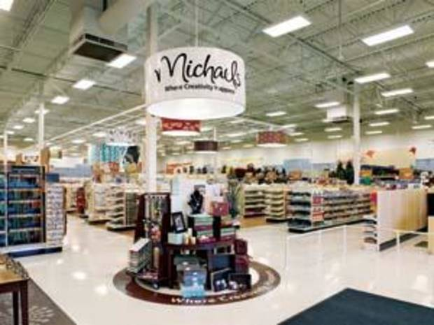 Inside a Michaels arts and crafts store.
