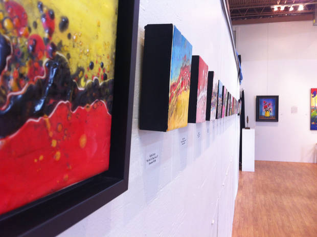 Artwork displayed on the walls of Paseo Originals Art Gallery. PHOTO BY RACHAEL CERVENKA