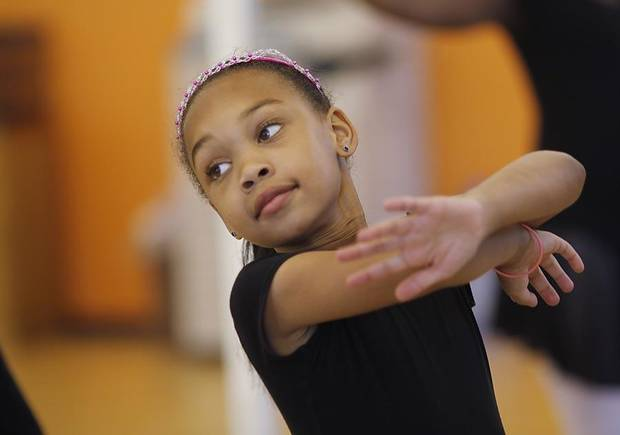 Madison Edwards during ballet practice for Metropolitan School of Dance  Saturday, May 7, 2011.  Photo by Doug Hoke, The Oklahoman