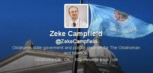 Zeke Campfield's twitter page