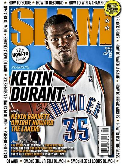 Kevin Durant on the cover of SLAM Magazine. Photo by Chris Landsberger