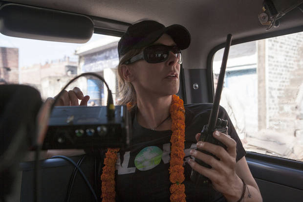 "Director Kathryn Bigelow on the set of ""Zero Dark Thirty."" COLUMBIA PICTURES PHOTO <strong></strong>"