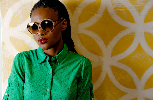 Tom Ford oversize round sunglasses from On a Whim. Model is Albreuna. Makeup by Lilly Stone, Sooo Lilly Cosmetics. Photo by Chris Landsberger, The Oklahoman.   <strong>CHRIS LANDSBERGER</strong>