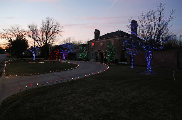 Christmas lights on Devonshire St. in Nichols Hills, Okla., Sunday, Dec. 9, 2012. Photo by Nate Billings, The Oklahoman