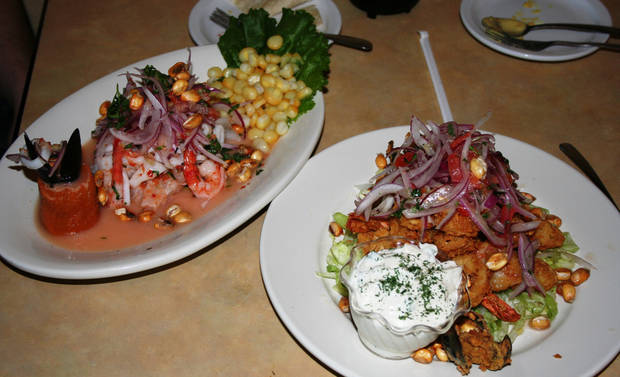 Seafood dishes are the specialty at Mamavecca, a Mexican restaurant that specializes in Peruvian cuisine.