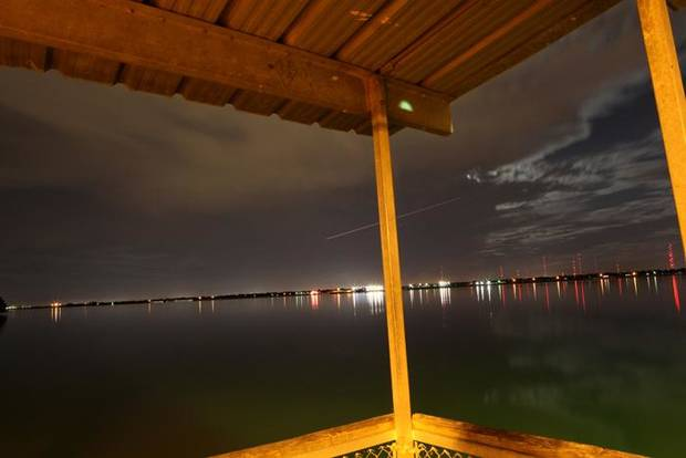 Nightfishing at Lake Hefner in Oklahoma City on Tuesday, Oct. 6, 2009. By John Clanton, The Oklahoman