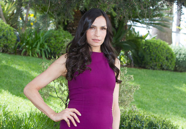 Dutch actress Famke Janssen of the TV series �Hemlock Grove.�AP Photo