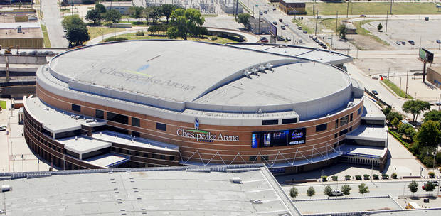 BUILDING EXTERIOR: Chesapeake Arena in downtown Oklahoma City Tuesday, Sept. 4, 2012. Photo by Paul B. Southerland, The Oklahoman