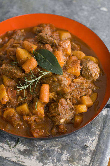 In this image taken on September 10, 2012, Speedy Beef and Butternut Stew is shown in Concord, N.H. (AP Photo/Matthew Mead) ORG XMIT: NYLS614