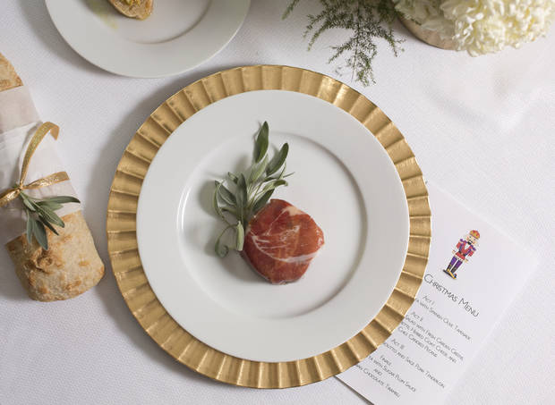 For holiday entertaining try a Nutcracker theme serving prosciutto and sage-seared pork tenderloin as a nod to one of the characters. (Ross Hailey/Fort Worth Star-Telegram/MCT)